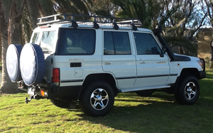 Toyota Landcruiser 4WD Side