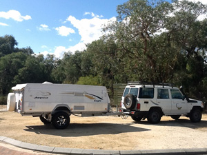 Camper Trailer Hire with 4WD