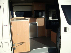 Platinum Luxury HiAce Kitchen