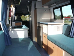 Innovative Mercedes Sprinter RV Conversion Typical Euro High Rear Bed Layout