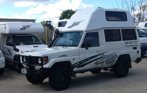 Off Road 4WD Camper Hire